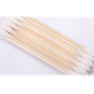 sharp cosmetic ear cleaning cotton buds sterile medical cotton swabs with bamboo plastic stick