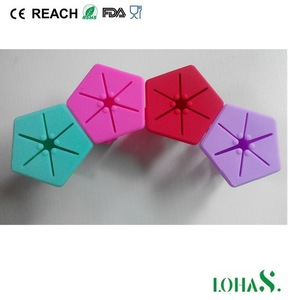 Silicone manufacturer supply cheapest polygon silicone nail ponish holder with own mold
