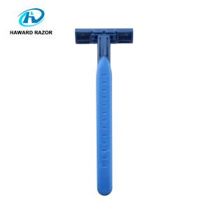 Twin blade body razor ergonomic shaving razor