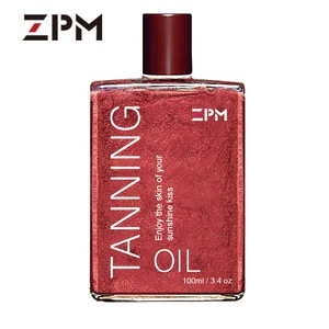 ZPM Isner Mile OEM/ODM Private Label Sunless Natural Organic Tanning oil shimmering body oil self tanner