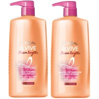 L'Oreal Elvive Paris Dream Lengths Shampoo and Conditioner for Long, Damaged Hair, 28 Ounce