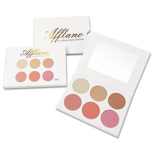 3 blushes  3 highlighters mini portable beautiful
