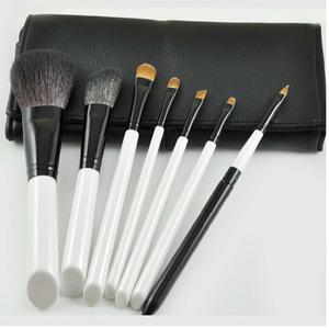 7pc Natural Hair Makeup Brush Set , Travel Cosmetic Brush Makeup Tools