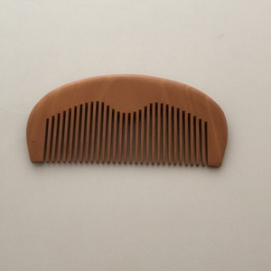 custom logo wooden moustache beard comb
