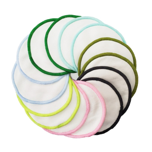 Eco Friendly Non-Toxic Face Reusable 2 Layer Make Up Remover Pads Washable Makeup Remover Pads with Organic Bamboo Cotton