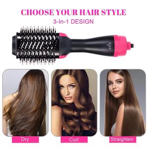 Hair Straightener Brush Dryer Volumizer Hot Air Brush Hair Dryer Comb