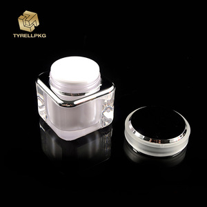 Hot sale 150ml 200ml luxury cosmetic containers bottles set acrylic pots for cosmetics