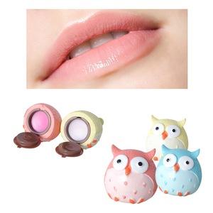Hot Sale Owl Shape Lip Care Fruit Flavor Moisturizing Natural Cute Lip Balm