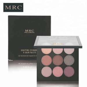 OEM wholesale makeup pressed glitter eyeshadow palette with luxury packaging