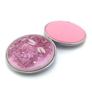 Plastic shiny compact mirror mini folding pocket mirror