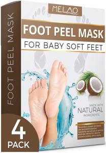 Private Label Foot Skin Care Mint Foot Mask Exfoliating Foot Peeling Mask Women Shoes Heels OEM