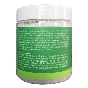 Private label Tea tree body scrub for  Moisture skin and Exfoliating
