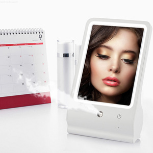 Sprayer High Quality makeup mirror with lights Portable LED compact mirrors led mirror Skin Care and Make Up Tool 2 in 1