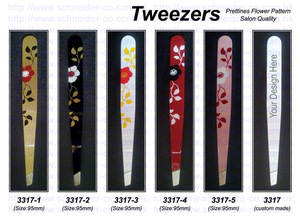 Stainless Steel Tweezers with Japan Lacquerware Pattern