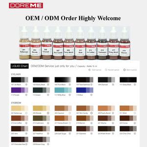 TATTO INK / OEM / ODM Micro Semi Permanent Makeup Pigment of cream type / Tattoo Ink / DOREME