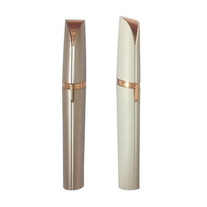 Wholesale New Arrival TV Product Pen Shape Painless Mini White Eyebrow Epilator With High Quality