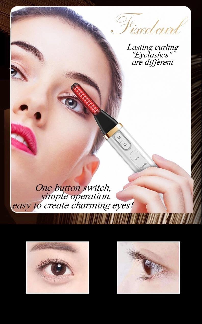 Perm Eyelash Perming,/ 2020 Sain 60s Pink Electrical Mini Heated Eyelash Curler Eyelash