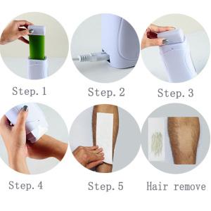 100g Roll On Depilatory Wax Cream Heater Waxing Hot Cartridge Hair Removal Roller Wax Warmer Equipment Tool EU Plug