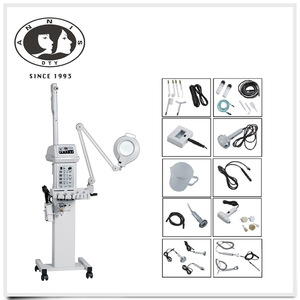 13 IN 1 multi-functional machineozone hot & cold facial steamer with magnifying lamp