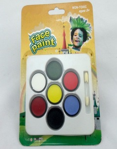 Adults kids Halloween party body art colors make up palette kit face paint