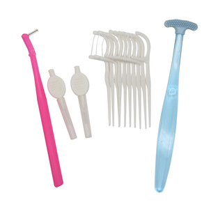 Convenient Portable Oral Hygiene Dental Floss Pick Interdental Brush Set For Teeth Gaps Cleaning