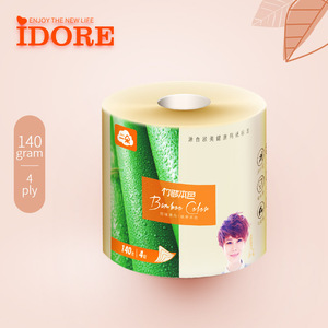 Bamboo natural color paper roll toilet paper roll toilet paper tissue