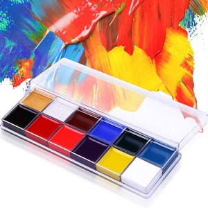 face painting kit 12 colors set flag body paint supplies wholesale your brand cosmetics beauty makeup artist academy source