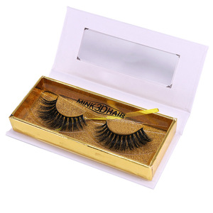 Free Samples Eyelashes Box Packing Magnetic False Eyelashes