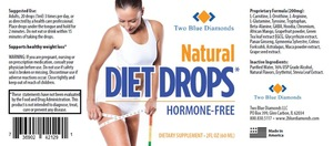 Most Potent on Market All Natural Diet Weight Loss Drops, FDA Registered, Non-Homeopathic, 2oz Made In USA Two Blue Diamonds
