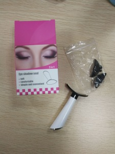 OEM customize eyeshadow stamp silicone stamp 3 sizes eyeshadow applicator
