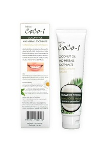 Coco-1 Coconut Oil Toothpaste From Thailand ( Tiffood )