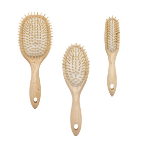 High quality natural wooden  hair brush