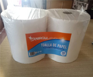 """High Quality Roll Paper Towels, 8"""" x 350 Roll, White, Poly-bag Protected"""