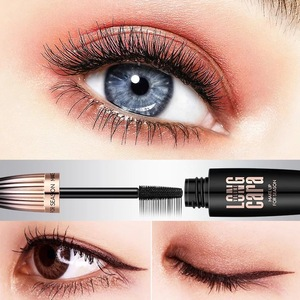 long last waterproof curling volume ultralong wet silk fiber 4D eyelash extension large brush head mascara RM0009