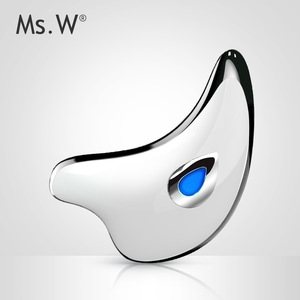 Mini Multi-purpose Ms.W Face Skin Care Gua Sha Tool Heat High Frequency Vibration Mini Galvanic Electric Facial Massage Machine