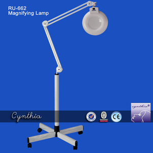 Portable 5X magnifying glass floor lamp/Led magnifying lamp Cynthia RU 662