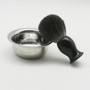 Professional Black Pure best Badger shaving brushes Top quality stainless steel shaving bowl
