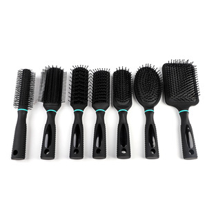 Salon Rotating soft handle grip Hairbrush