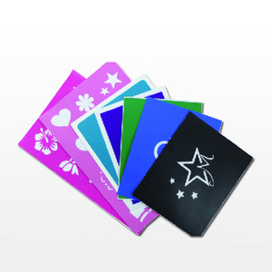 Directly supply high quality reusable glitter tattoo stencil
