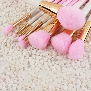 Factory Private Label 9pcs Pearlescent Gradient Makeup Brush Set Gold Ferrule Beauty Cosmetic Tool Kits