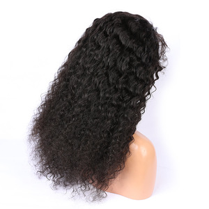 Factory Wholesale Price High Density Virgin Brazilian Human Hair Wigs , Popular Curly Full Lace Human Hair Wig For Black Women
