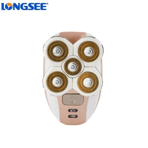New fashion 5 head lady electric shaver 3 in 1 lady trimmer shaver epilator rechargeable