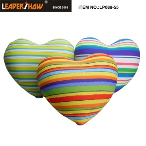 OEM  decorative soft silicone beads love heart shaped bath printing pillow