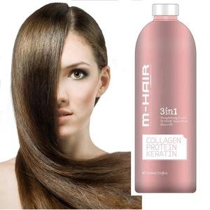 OEM Professional three in one keratin straightening perm lotion hair rebonding cream