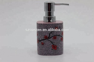 Resin Polyresin Plum Blossom Hotel Bath Set Bathroom Accessories set