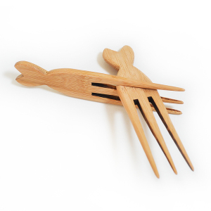 Wholesale New Arrival Small Bamboo Wood Afro Hair Pick Comb Hair Comb
