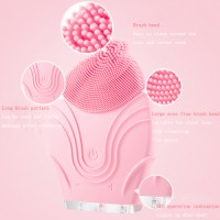 Sain Amazon Best Seller Silicon Skin Cleaning Sonic Rechargeable Rotating Facial Cleansing Brush Tool / Massage Beauty Device