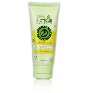 Biotique - Bio Aloe Vera Baby Sun Block SPF 20 UVA/UVB Sunscreen - 50g