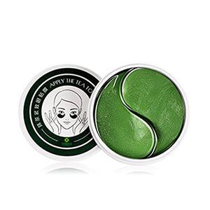 Custom packaging new green tea powder sheet gel eye mask