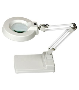 Double lens different sizes of industrial magnifying glass with light